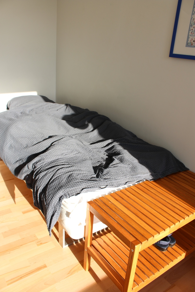 Bed with full of sunshine
